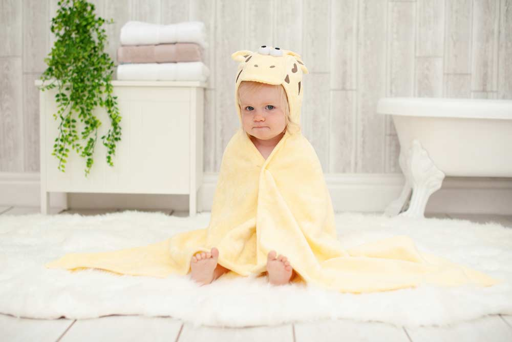 The Perfect Hooded Towel for your Water Baby