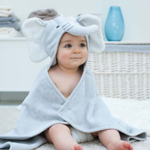Elephant Baby Hooded Towel
