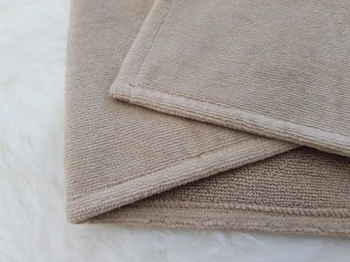 Brown towelling fabric