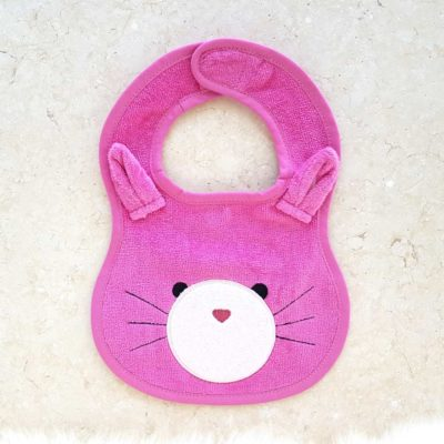 Pink Cat Baby Bib