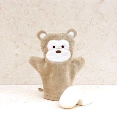 Brown Monkey Baby Bath Mitt