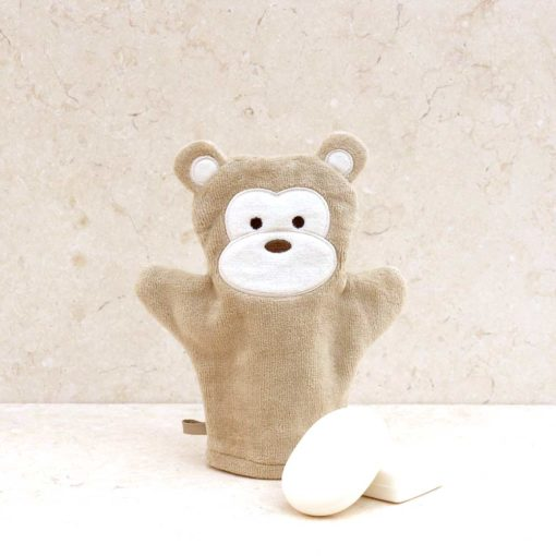 Brown Monkey Baby Bath Mitt