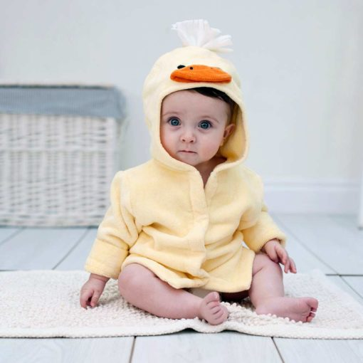 Yellow Duck Hooded Baby Bathrobe