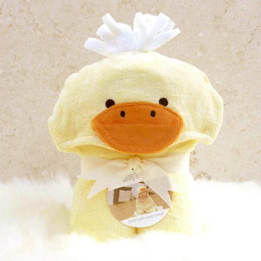 Yellow Duck Hooded Baby Bath Towel