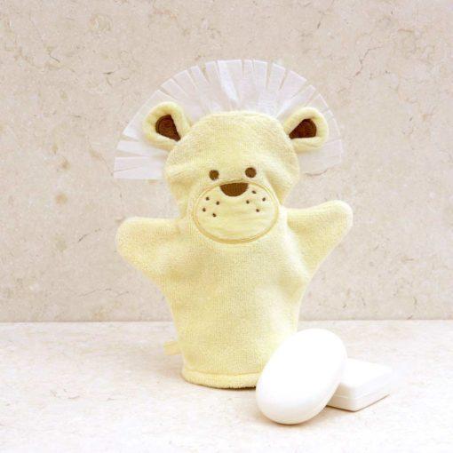 Yellow Lion Baby Bath Mitt