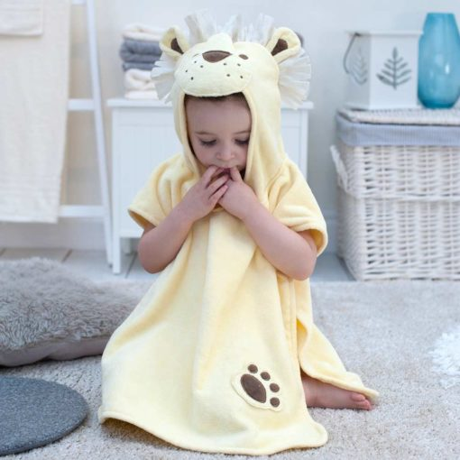 Lion Hooded Towel Poncho for Toddlers