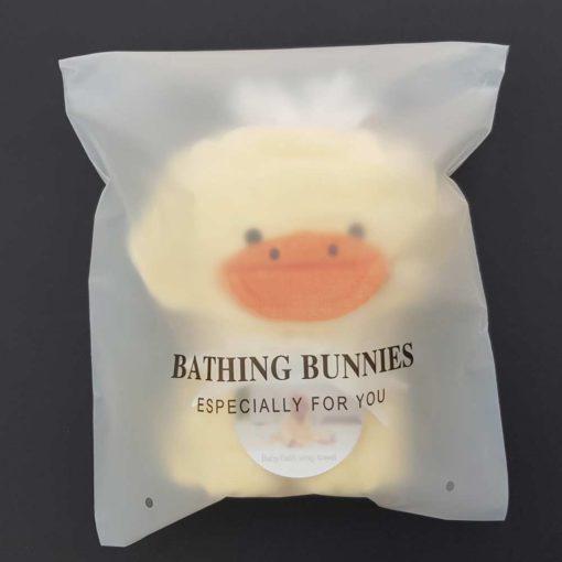 Duck Baby Towel in standard packaging