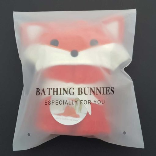 Fox Baby Towel in standard packaging