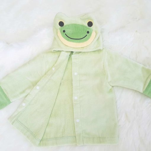 Green Frog Baby Hooded Bathrobe