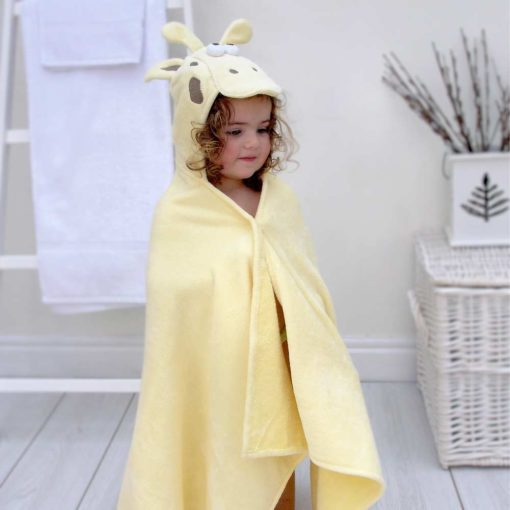 Yellow Large Hooded Towel for Toddlers