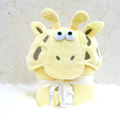 Yellow Giraffe Toddler Hooded Towel