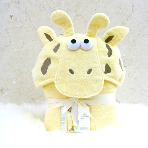 Yellow Giraffe Toddler Hooded Towel