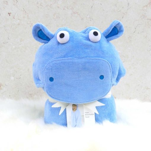 Blue Hippo Toddler Hooded Animal Towel