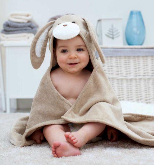 Bunny Hooded Baby Bath Towel