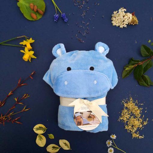 Hippo baby bathrobe