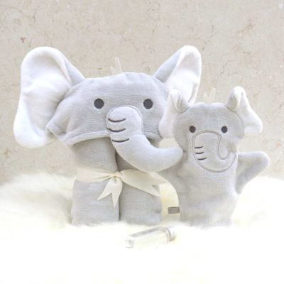 Grey Elephant Baby Gift Set