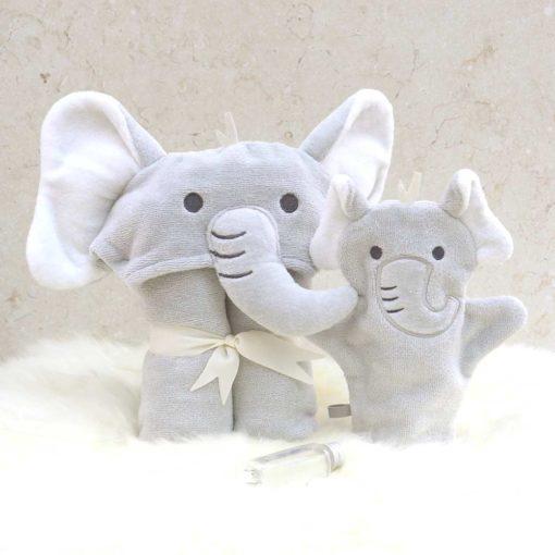 Grey Elephant Baby Gift Set