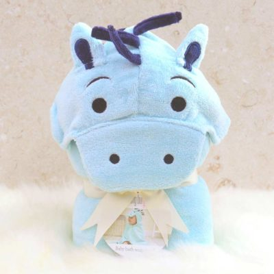 Pony Hooded Bath Towel for Babies