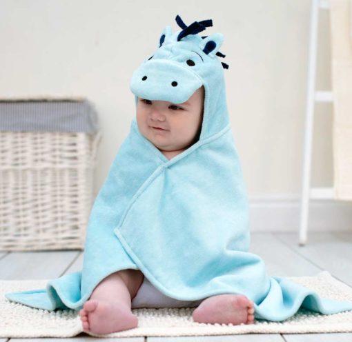 Pony baby hooded towel