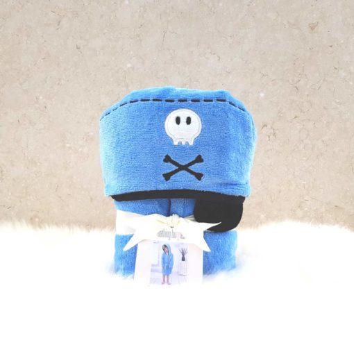Blue Pirate Hooded Toddler Bathrobe