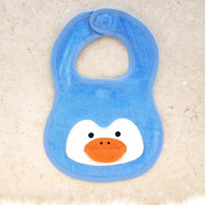 Blue Penguin Baby Bib