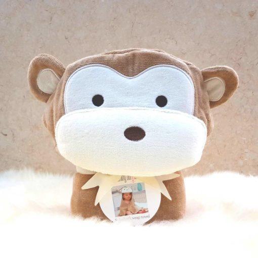 Personalised Cheeky Monkey Baby Towel
