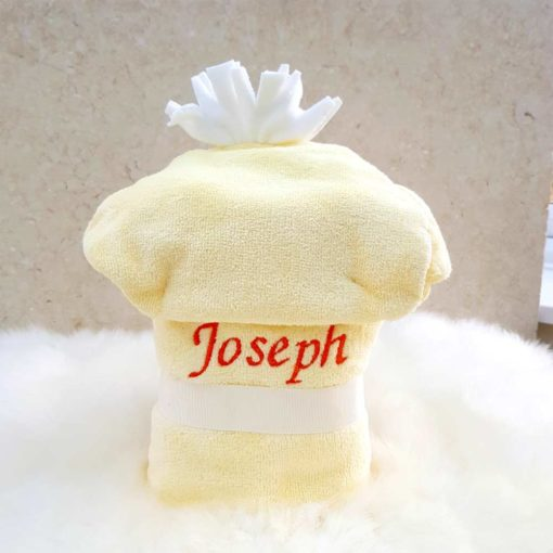 Personalised Duck Hooded Baby Bathrobe