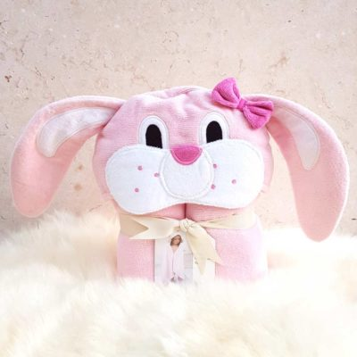 Personalised Freckle Bunny Toddler Towel
