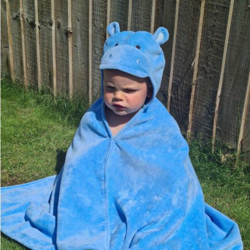 Personalised Happy Hippo Toddler Towel