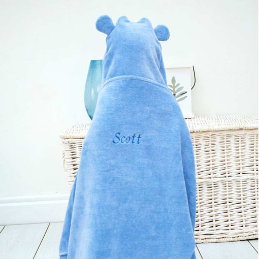 Personalised Hippo Hooded Towel for Toddlers