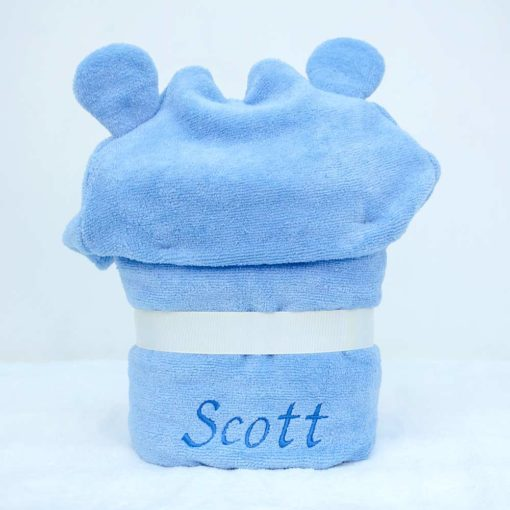 Personalised Hippo Hooded Toddler Towel