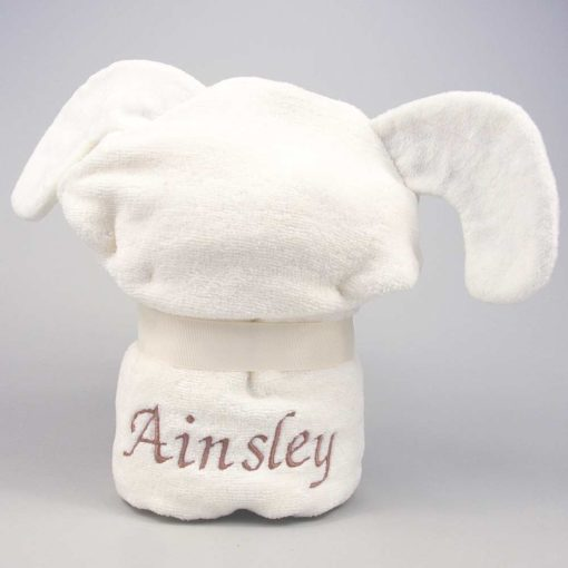 Personalised Puppy Baby Hooded Towel