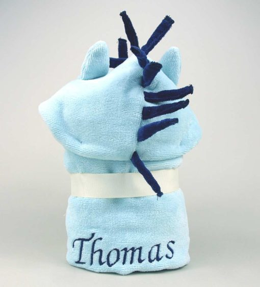 Personalised Pony Baby Hooded Towel