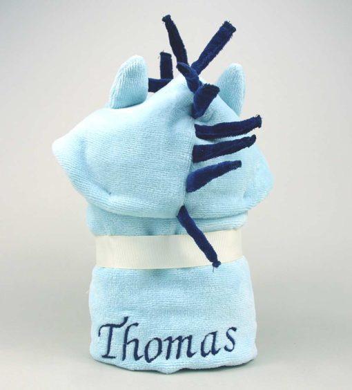 Personalised Pony Baby Hooded Towel