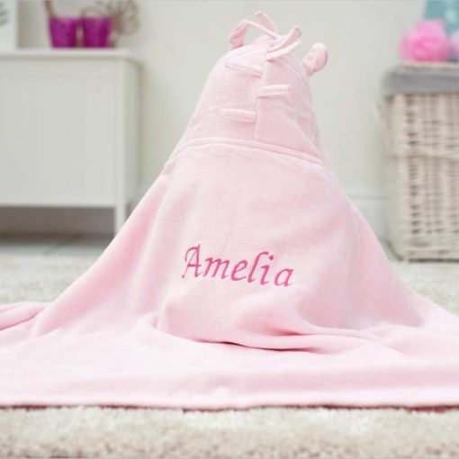 Personalised Unicorn Baby Hooded Towel