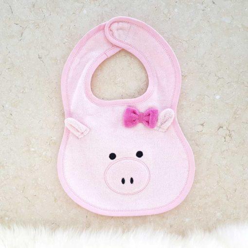 Pink Piggy Baby Bib