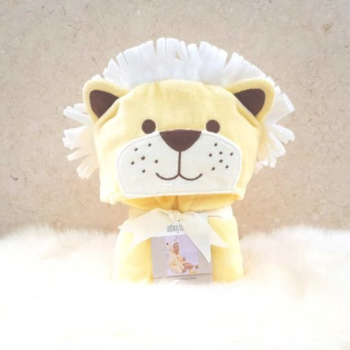 Yellow Lion Hooded Toddler Bathrobe