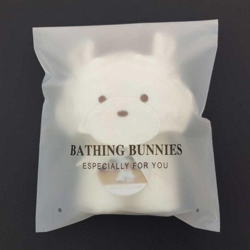 Smiley Bear Baby Towel in standard packaging