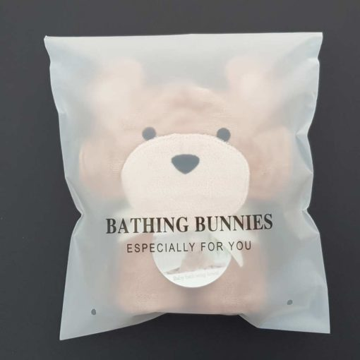Toffee Teddy Baby Towel in standard packaging