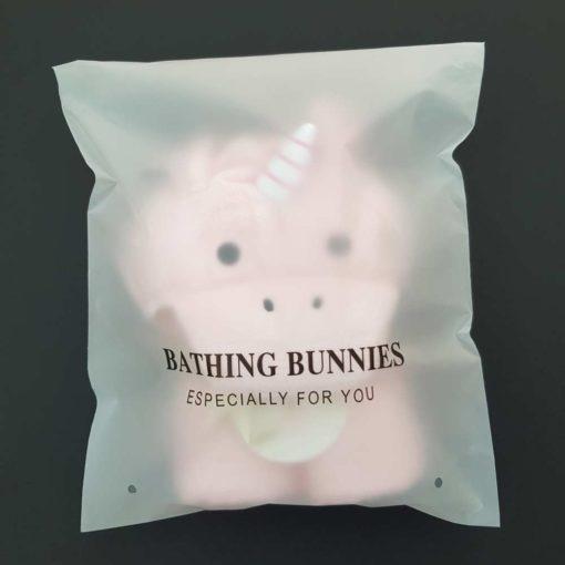 Unicorn Baby Towel in standard packaging