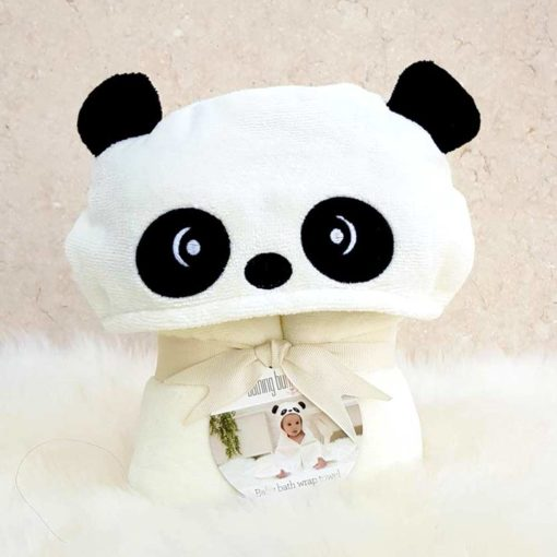 Personalised Little Pumpkin Panda Baby Gift Towel