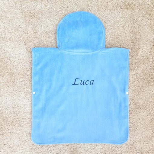 Blue Pirate Hooded Children Poncho Towel