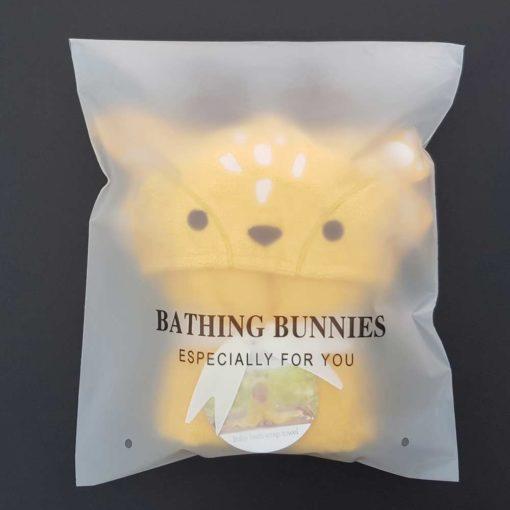 Buttercup Deer Baby Towel in standard packaging