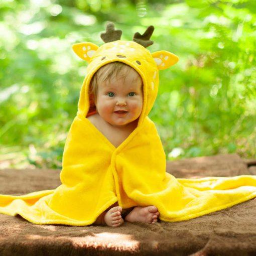 Buttercup the Deer baby towel