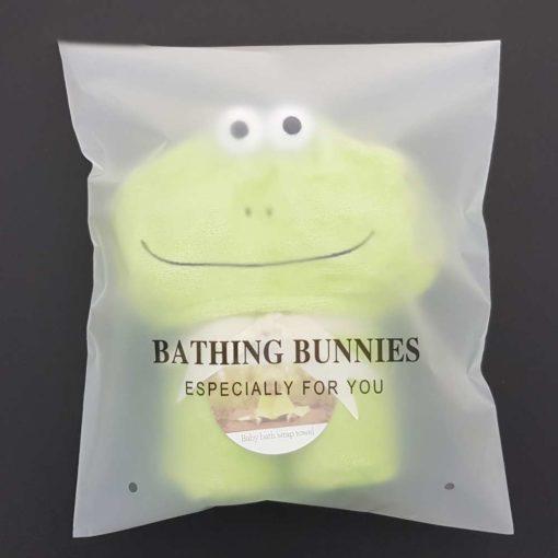 Frog Baby Towel in standard packaging