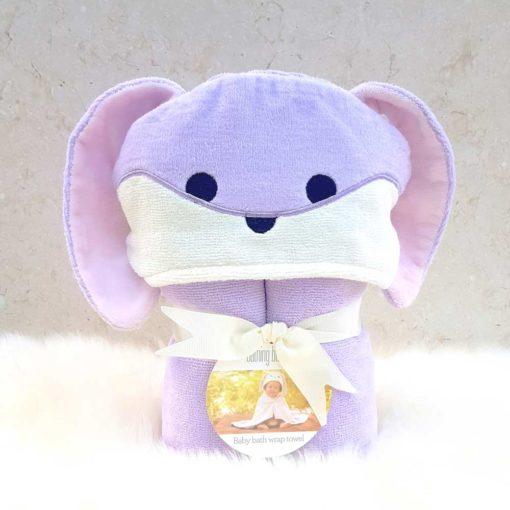 Lavender Bunny Baby Towel