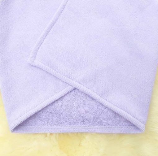 Lavender Bunny Baby Towel Towelling Fabric
