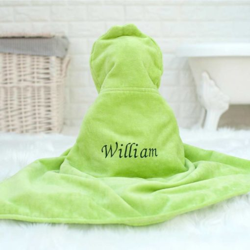 Personalised Bubbles the Frog Baby Towel