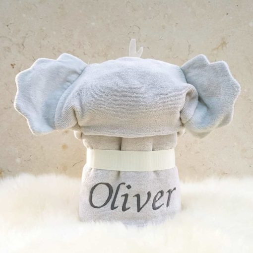 Personalised Cuddles the Koala baby towel