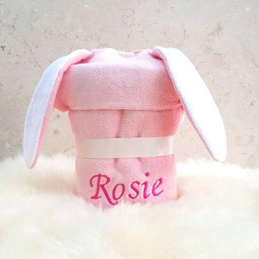 Personalised Bonny Bunny Baby Towel